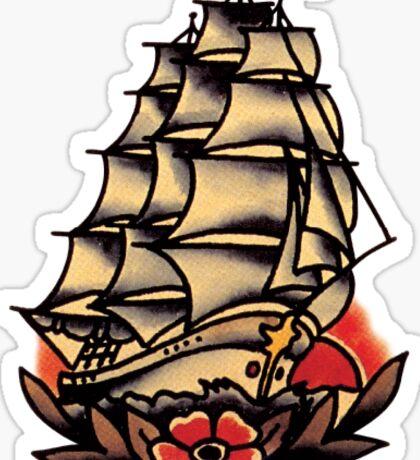 Sailor Jerry Pirate Ship Sticker