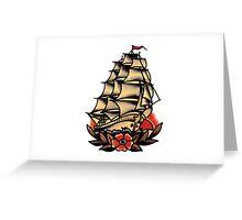 Sailor Jerry Pirate Ship Greeting Card