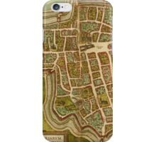Ieper Vintage map.Geography Belgium ,city view,building,political,Lithography,historical fashion,geo design,Cartography,Country,Science,history,urban iPhone Case/Skin