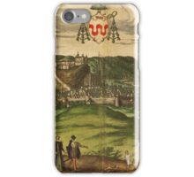 Huy Vintage map.Geography Belgium ,city view,building,political,Lithography,historical fashion,geo design,Cartography,Country,Science,history,urban iPhone Case/Skin