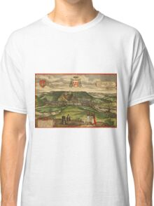 Huy Vintage map.Geography Belgium ,city view,building,political,Lithography,historical fashion,geo design,Cartography,Country,Science,history,urban Classic T-Shirt
