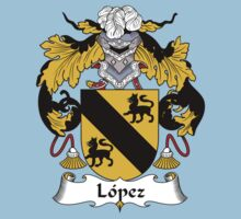 Lopez Coat of Arms/Family Crest Kids Tee