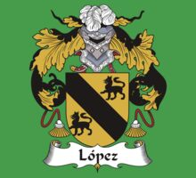 Lopez Coat of Arms/Family Crest Baby Tee