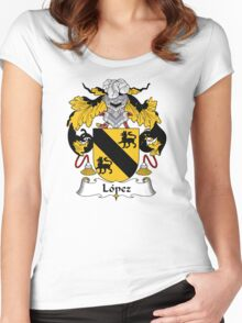 Lopez Coat of Arms/Family Crest Women's Fitted Scoop T-Shirt