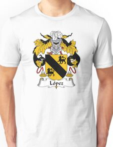 Lopez Coat of Arms/Family Crest Unisex T-Shirt