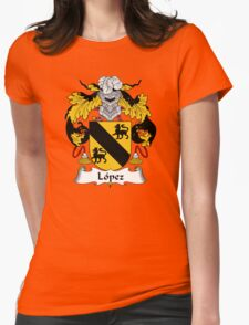 Lopez Coat of Arms/Family Crest Womens Fitted T-Shirt