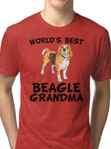 World's Best Beagle Grandma Tri-blend T-Shirt