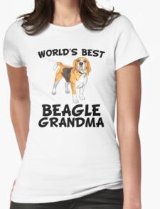 World's Best Beagle Grandma Womens Fitted T-Shirt