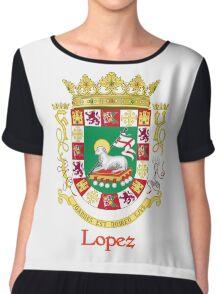 Lopez Shield of Puerto Rico Chiffon Top