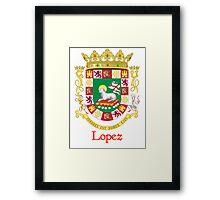 Lopez Shield of Puerto Rico Framed Print