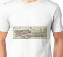 Husum Vintage map.Geography Germany ,city view,building,political,Lithography,historical fashion,geo design,Cartography,Country,Science,history,urban Unisex T-Shirt