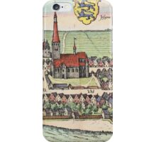 Husum Vintage map.Geography Germany ,city view,building,political,Lithography,historical fashion,geo design,Cartography,Country,Science,history,urban iPhone Case/Skin