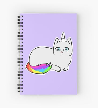 Rebel the Unicorn Cat – Lying Down Spiral Notebook