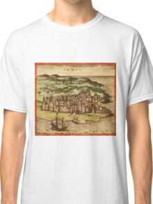 Hormus Vintage map.Geography Germany ,city view,building,political,Lithography,historical fashion,geo design,Cartography,Country,Science,history,urban Classic T-Shirt