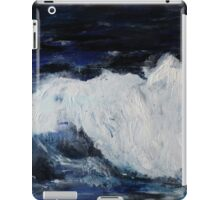 Ocean Waves Seascape Acrylic Painting On Paper iPad Case/Skin