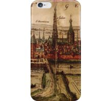 Hertogenbosch Vintage map.Geography Netherlands ,city view,building,political,Lithography,historical fashion,geo design,Cartography,Country,Science,history,urban iPhone Case/Skin