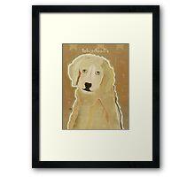 labradoodle  Framed Print