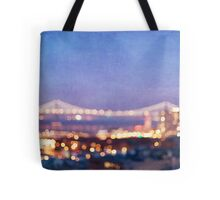 Bay Bridge Glow - San Francisco Tote Bag