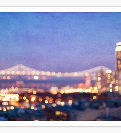 Bay Bridge Glow - San Francisco Sticker