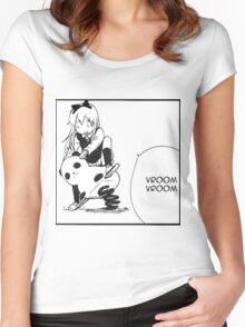 Kyouko Being cute Yuru Yuri  Women's Fitted Scoop T-Shirt