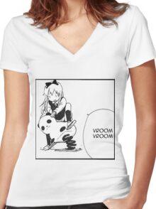 Kyouko Being cute Yuru Yuri  Women's Fitted V-Neck T-Shirt