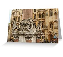Four Lions on the Westminster Scholars War Memorial Greeting Card