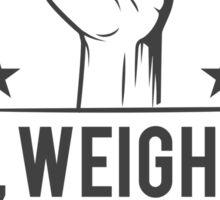 Sex, weights & protein shakes Sticker