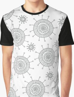 Simple doodle flower pattern. Seamless abstract background for coloring book or wallpaper. Graphic T-Shirt