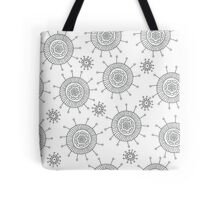 Simple doodle flower pattern. Seamless abstract background for coloring book or wallpaper. Tote Bag