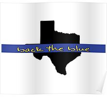 Back the blue Texas Poster