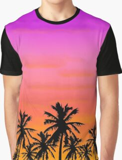 Island Sunset Graphic T-Shirt