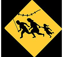 Running Immigrant Family Flying a Kite  Photographic Print