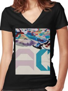 Painting With (AC Logo) Women's Fitted V-Neck T-Shirt