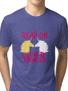 Keep Calm and Read On, FYA Tri-blend T-Shirt