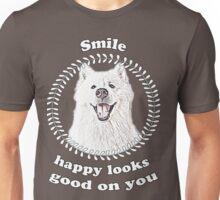 Smile, happy looks good on you! Unisex T-Shirt