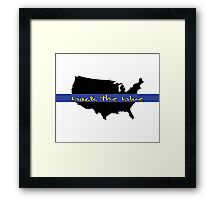 Back the Blue United States Framed Print