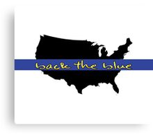 Back the Blue United States Canvas Print