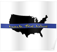 Back the Blue United States Poster