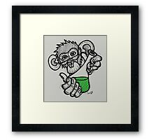 Lab Monkey Framed Print