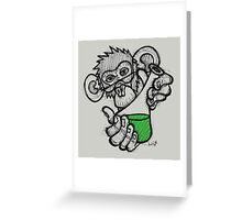 Lab Monkey Greeting Card