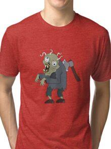 Zombie man  Tri-blend T-Shirt