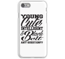 Young cute intelligent & black belt iPhone Case/Skin