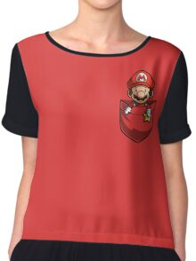 Pocket Mario  Chiffon Top