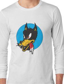 Rockabilly Cartoon Wolf Long Sleeve T-Shirt