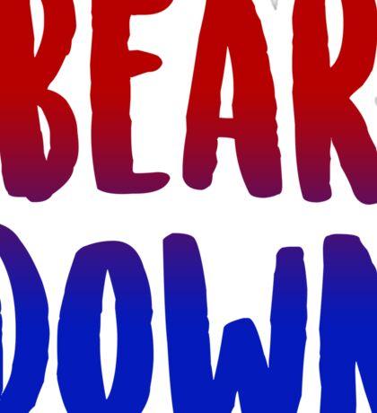 Bear Down Sticker