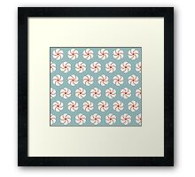 Cotton flowers pattern Framed Print