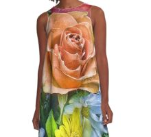 Peach Rose A-Line Dress
