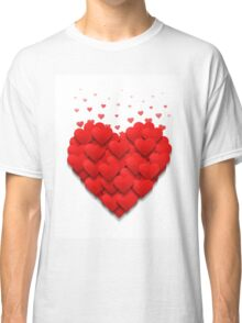 Little hearts form a big heart. Valentine's day concept.  Classic T-Shirt