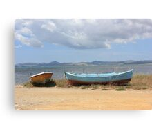 Old Rusty Boats Canvas Print