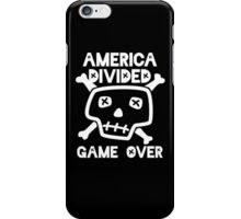 America Divided Game Over iPhone Case/Skin